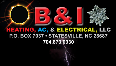 B & I Heating, A/C & Electrical LLC Logo